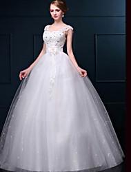 Princess Floor-length Wedding Dress -V-neck Lace