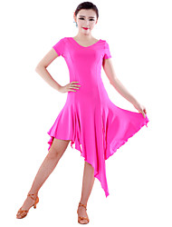 High-quality Milk Fiber Latin Dance Dresses for Women's Performance(More Colors)