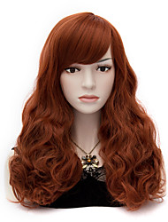 European And American Wind Red Brown Curly Hair Nylon Hair Wigs
