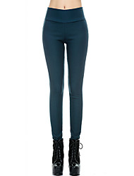AIMENGYA®Women's Sexy/Bodycon/Casual/Work High Waist Thin Velvet Stretchy Skinny Trousers (Cotton/Elastic/Fleece)