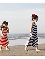 Girl's Summer/Spring/Fall Micro-elastic Medium Sleeveless Dress (Cotton Blend)
