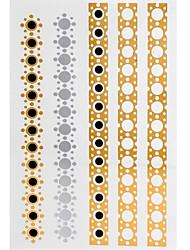4 - Séries bijoux - Doré/Multicolore/Argenté - Motif - 24.5*14*0.2CM - Tatouages Autocollants Homme/Femme/Adulte/Adolescent