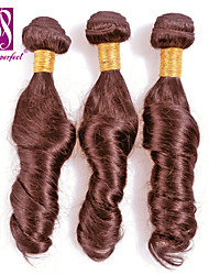 Natural Color Hair Weaves Brazilian Texture Loose Wave 3 Pieces hair weaves