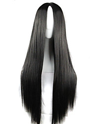 cosplay perruque de mode à long cheveux longs cheveux raides perruques  synthétiques style de la mode