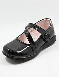 Girls' Shoes Wedding Round Toe Loafers Black