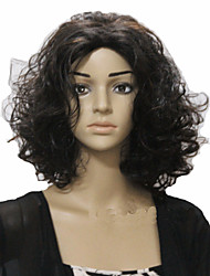 European Style Popular Natural Color Short Hair Wigs Hair Wave Synthetic Hair Wigs