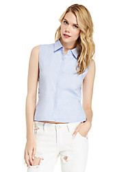 Women's American Apparel Hollow Out Patchwork Sleeveless Sexy Shirt