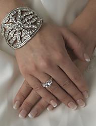 Diamond/Rhinestone Aolly Silver Bracelet For Women Lades Bridal Birthday GIft Party Beach Wedding Dance