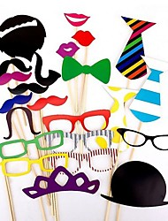22 PCS Card Paper Photo Booth Props Party Fun Favor
