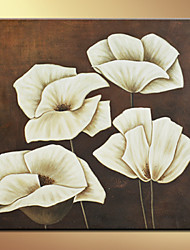 Floral/Botanical Oil Painting Hand-Painted Canvas Wall Art Floral One Panel Ready to Hang