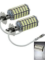 2X 120 3528 SMD LED H3 Bulb White Fog Light Parking Low High Beam Lamp DC 12V H058
