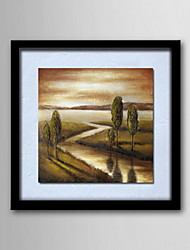 peintures à l'huile toile peinte à la main de paysage abstrait modernes un panneau prêt à accrocher
