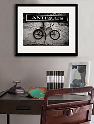 e-FOYER encadrée art de toile, le vieux vélo encadrée impression sur toile