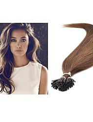"1pc/lot 18""-30"" 1g/strand 100g/pc Pro-Bonded Keratin Stick Tip Hair  #6 Stick Hair Extension Brazilian Virgin Human Hair"