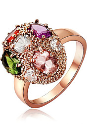 BIO Women's Gemstone Diamante Colorful Ring