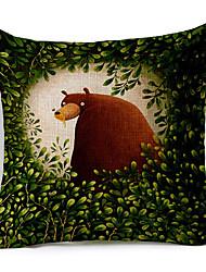 мультфильм медведь в лес с рисунком хлопок / белья декоративной подушки крышки