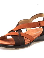 Zapatos de mujer - Tacón Cuña - Cuñas - Sandalias - Casual - Cuero - Multicolor