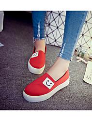 Zapatos de mujer Cuero Patentado Plataforma Zapatos y Bolsos a Juego Sandalias Casual Negro/Rojo