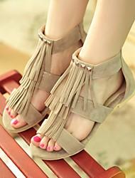 Women's Shoes  Flat Heel Gladiator Sandals Office & Career/Casual Black/Brown/Beige