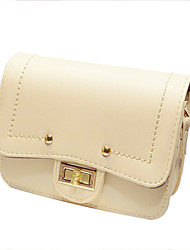 Women's Fashion Retro Handbag Multicolor Crossbody Bag With Button
