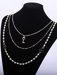 Collares de cadena/Strands Collares ( Legierung/Perla Artificial ) - Boda/Fiesta/Diario/Casual