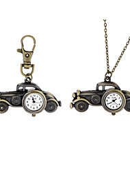 Vintage Classic Antique Car Pendant Pocket Watches for Women Men Hot Selling New Correntes Gifts Key Chain Watch