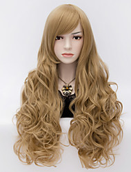 The European And American Wind Flaxen Universal Face Curly Hair Fleeciness And Big Volume
