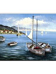 pinturas a óleo moderna vista para o mar, material de lona, com quadro esticado pronto para pendurar tamanho: 60 * 90 centímetros.