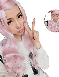 Lolita Sex Products Pink Wigs Rainbow Synthetic Bangs Curly Hair Wigs Ombre Wig Cheap Anime Cosplay Wigs