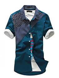 Men's The Trend Is Spliced Leisure Shirt