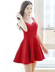 Women's Sexy Casual Micro Elastic Sleeveless Above Knee Dress (Others)