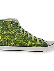 Hand-painted Canvas Shoes Outdoor/Athletic/Casual Canvas Fashion Sneakers/Athletic Shoes Green
