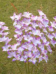Único tailândia orquídea material de tecido 8 unidades / lote venda quente decoração do escritório flores artificiais atacado 38 ''