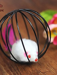 Cat Toy Pet Toys Teaser Mouse Toy Cage Ball Mouse Black Plastic