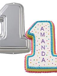quatre c bébé brithday depuis 1 an pan vieille aluminium de gâteaux, des outils de décoration de gâteaux, de métal moule de cuisson de