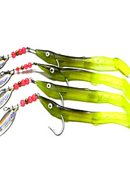 4pcs Fishing Bait Soft Lures