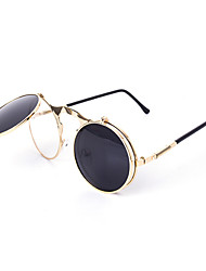 Sunglasses Men / Women / Unisex's Elegant / Retro/Vintage / Fashion Round Black / Silver / Gold Sunglasses Full-Rim