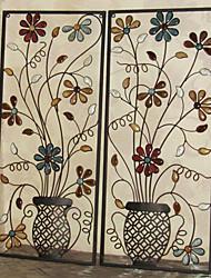 E-HOME® Metal Wall Art Wall Decor, Flower Design Wall Decor One PCS