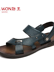 Men's Shoes Outdoor/Office & Career/Casual Leather Sandals Brown/Green