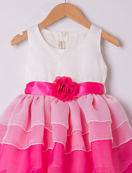 Girl's Chiffon/Cotton Dress , Summer Sleeveless