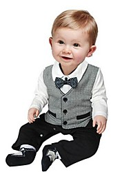 Boy Cotton Overall & Jumpsuit , Spring/Fall Long Sleeve