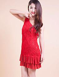 Vestidos ( Rojo , Poliéster , Danza Latina ) - Danza Latina - para Mujer/Niños