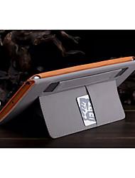 couleur unie auto cuir PU sommeil / réveil de cas cas d'enveloppe in-folio pour l'air de l'iPad (couleurs assorties)