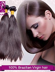 """3pcs/lot 12""""-30"""" Unprocessed 6A Brazilian Virgin Hair Dark Brown Silky Straight Human Hair 100% Human Hair"""