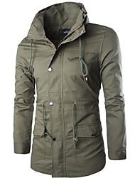 JACK-BOY Men's Stand Coats & Jackets , Organic Cotton Long Sleeve Casual JACK-BOY