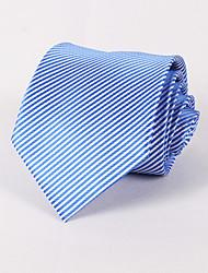 Gravatas ( Azul Claro , Poliéster ) Listrado