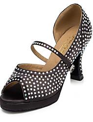 Zapatos de baile ( Negro ) - Salsa - No Personalizable - Tacón Luis XV