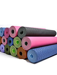 Yoga Mats 183*61* 0.06 Non Slip / Pegajoso / Ecológico / Non Toxic / à prova d'água / Secagem Rápida / Sem Cheiros 4.0 / 6 / 8.0 mmRosa /