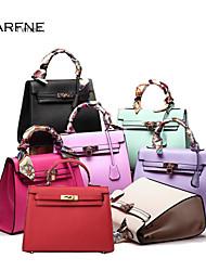 Fashion Tassel Tote Bag Women Classic Scarf Handbag Pu Leather Crossbody Shoulder Bag Clutch Purses