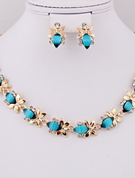 Number gilded classic alloy fat suit (necklace) (earrings)